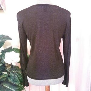 Ann Taylor Tops - Ann Taylor Sparkly Button Front Top